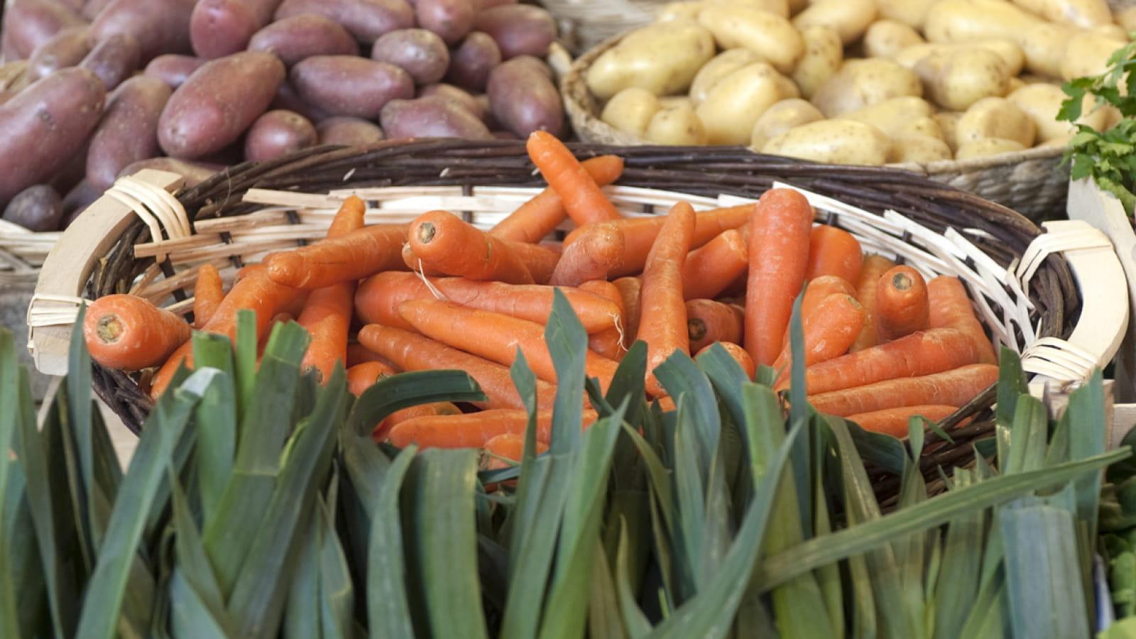 Légumes sur le marché de Dijon