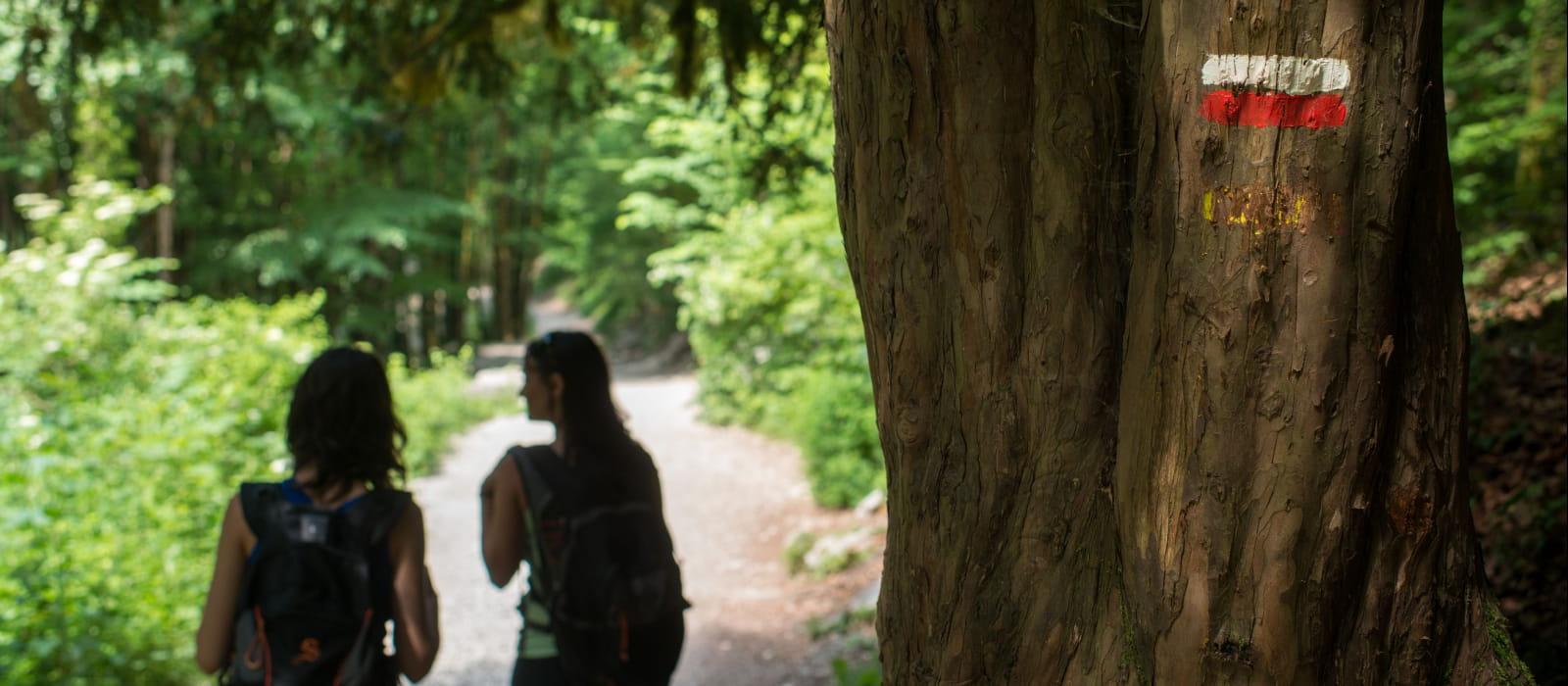 Randonnée pédestre aux Cascades du Hérisson
