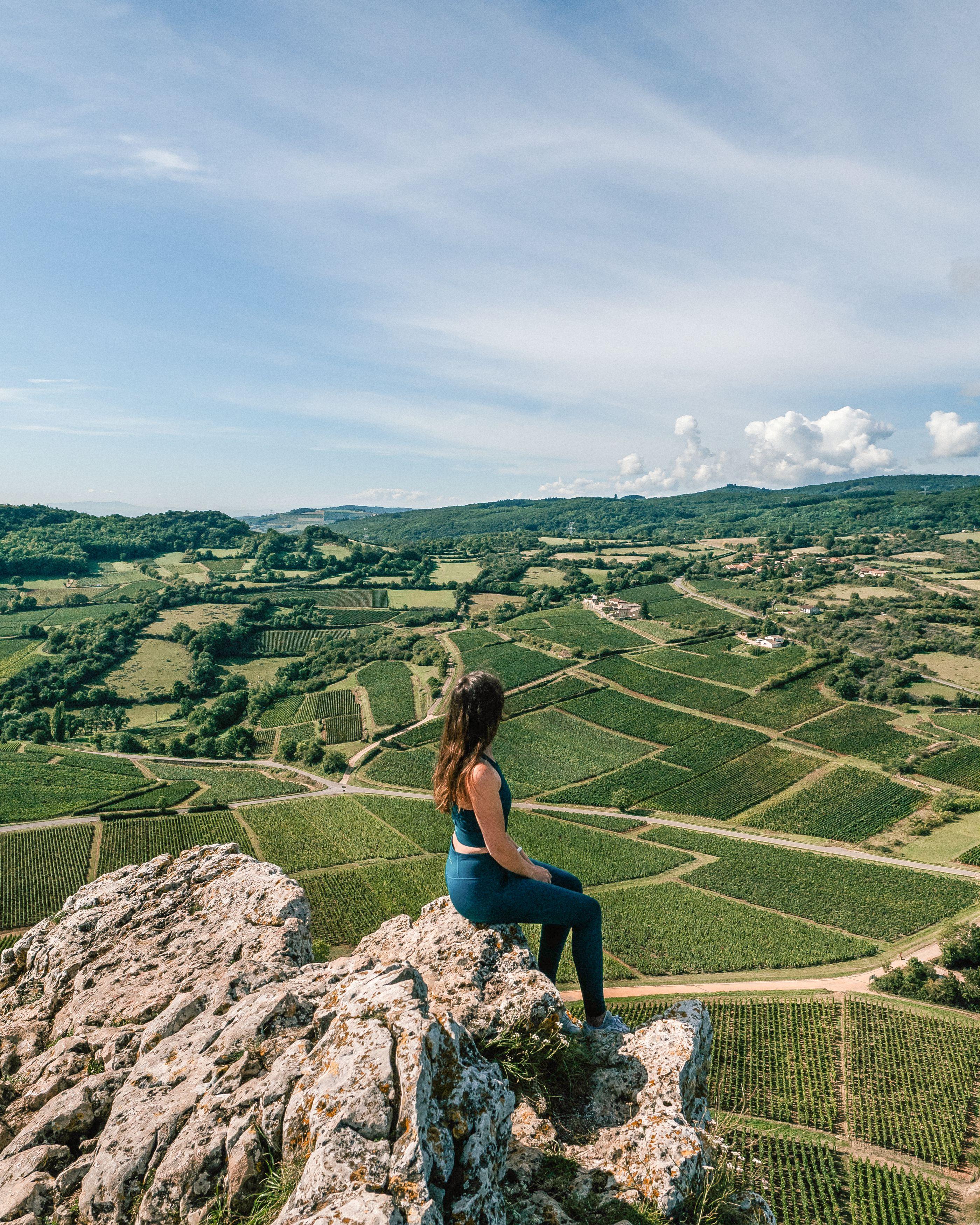 Vue sur le vignoble Mâconnais - La Roche de Solutré