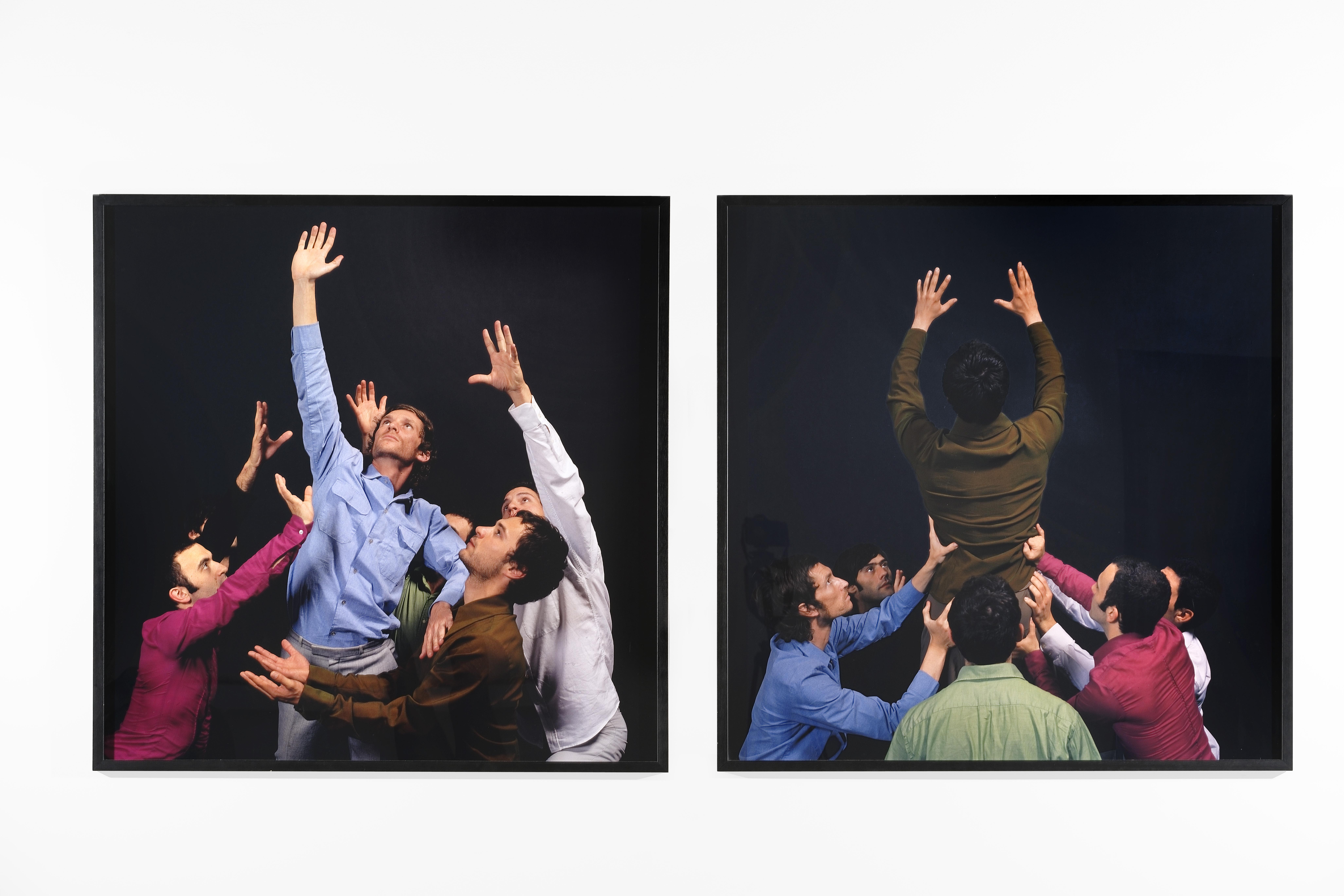 Édouard Levé, vue de l'œuvre Sans titre, 2005, et de l'exposition Danser sur un volcan, commissariat Florent Maubert & Sylvie Zavatta, Frac Franche-Comté, 2021