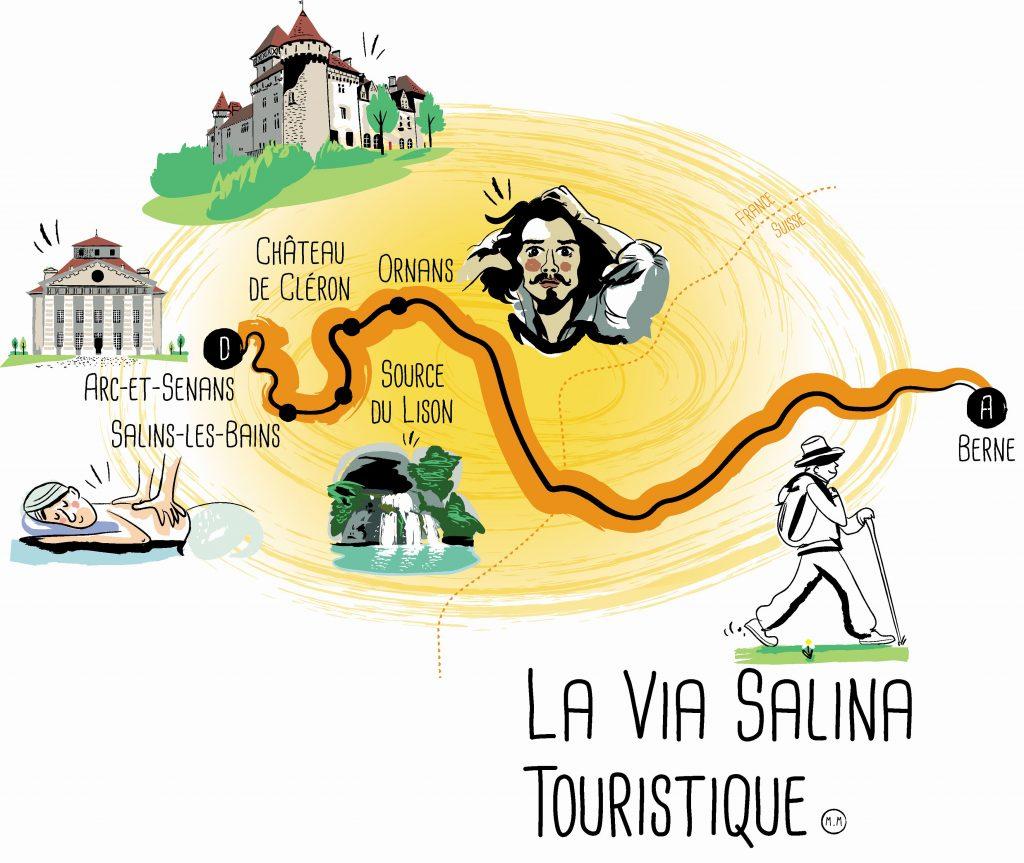 Carte PEDESTRE / La Via Salina